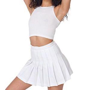 American Apparel white tennis skirt